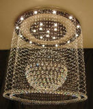 A lâmpada de cristal redonda do teto da sala de visitas com Ce, UL aprovou
