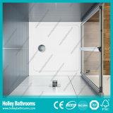 緩和された薄板にされたガラス(SE919C)が付いているアルミニウム折りたたみのシャワーのピボットドア