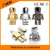 Roboter-Form-Silber und schwarzes USB-Blitz-Laufwerk
