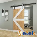 El último diseño de interiores puerta corrediza de la puerta de granero Pista sistema de poleas decorativo