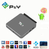 A caixa a mais nova Tx7 Amlogic S905X 2GB /32GB da tevê do Android 6.0 de P&Y com o Kodi 16.0 carregado inteiramente