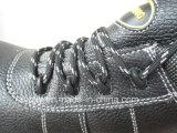 De spleet In reliëf gemaakte Schoenen van de Veiligheid Shoebuckle van het Leer Plastic (HQ01021)