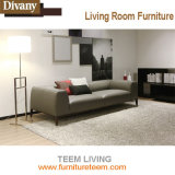 Couler le sofa en cuir d'hôtel de meubles de modèle