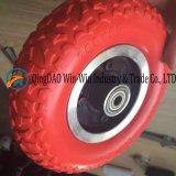힘 휠체어 앞 바퀴 (200*50)를 위한 편평한 자유로운 PU 바퀴