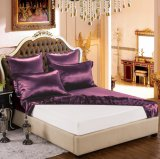 Taihuの雪の絹の優雅シリーズOeko-Tex 100の標準絹の継ぎ目が無い寝具19mommeの実質の贅沢で暗いマゼンタの純粋なクワ絹シートセット