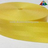 Classe superior Webbing de nylon do cinto de segurança de um amarelo de 1.5 polegadas