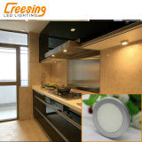 銀製灰色超細い2W LEDのキャビネットライトはすべての家具に適用する