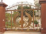 Haohanの良質の外部の機密保護の装飾的な錬鉄の塀のゲート20