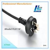 Contactos estándar del cable eléctrico de Australia 3 con el certificado 15A de SAA