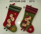 Encendiéndose encima de medias de la Navidad del muñeco de nieve de Santa de la decoración de la Navidad, 2asst