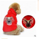De LEIDENE Hond kleedt de Goedkope Kleren van het Huisdier voor Kerstmis