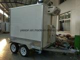 찬 룸 냉장고 상자 트레일러 거리 이동할 수 있는 간이 식품 트럭