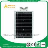 15W統合されたLEDのランプのモノラル太陽電池パネルが付いている太陽街灯