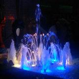 Fonte de água da decoração do casamento da dança da música