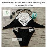 Form-Spitze geerntete Strand-Abnützung-Schwimmen-Klage für Frauen-Bikini-Set