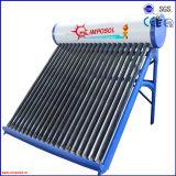 Calefator de água solar de alta pressão da câmara de ar de vácuo da tubulação de calor