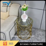 Foshan Stainless Steel Furniture Glass End Table