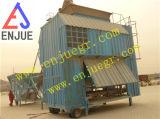 Mobile containerisierte Einsacken-Maschine für Korn-Düngemittel auf dem Kanal