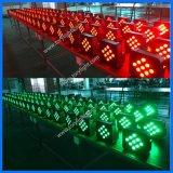 Iluminación plana sin hilos ligera de la IGUALDAD 9PCS del disco LED DMX 512