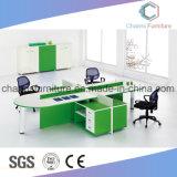現代4つのシートL形表のオフィス用家具ワークステーション