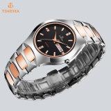 Pareja de negocios relojes de diamantes a prueba de agua de acero de tungsteno del reloj de los amantes de los hombres de moda y reloj de las mujeres 72823
