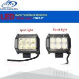 luz LED del trabajo de 18W LED que conduce el barco del alimentador de la motocicleta de la lámpara de la inundación del punto del camino 4WD 4X4 SUV ATV campo a través