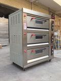 Превосходная печь газа палубы оборудования 3 хлебопекарни представления с 1979