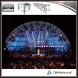 軽量アルミニウムによってアーチ形にされる屋根のトラスコンサートの段階