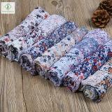 2017 drukte Nieuwe Dame Fashion Viscose Voile Floral de Fabriek van de Sjaal af