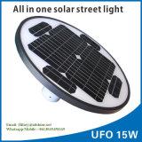 Alumbrado público 15W Al-U15 de movimiento 2017 del sensor del jardín al aire libre solar de la luz
