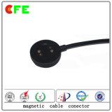 Круглое магнитное изготовление разъема зарядного кабеля 2pin