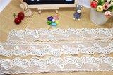 Auf lager Breiten-Stickerei-Gewebe-Netz-weiße Spitze-Polyester-Stickerei-Zutat-Fantasie-Ineinander greifen-Spitze des Kleid-chemisches Gewebe-Fabrik-Aktien-Großverkauf-5.5cm (BS1221)