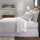 Ropa de cama de la raya del satén de algodón egipcio de la colección del hotel de lujo mejor, reina