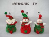 산타클로스와 눈사람 크리스마스 훈장 선물