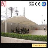 Tenda di tensione del Carport della tenda di parcheggio dell'automobile della struttura d'acciaio del tetto della membrana di PVDF