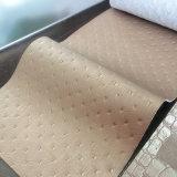 Eco-Friendly кожа мебели PU огнестойкости
