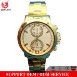 Nuevo reloj fino de las mujeres de la alineada de la venda de la placa de oro del reloj de las señoras del acero inoxidable del cuarzo de la manera Yxl-415