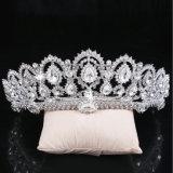 Encendido de la corona de piedra cristalina de las tiaras de la boda del sostenedor de la aleación