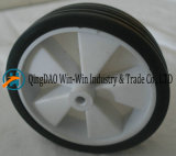 Rotella di gomma solida nera 6*1.5 per i carrelli e le righe della barra