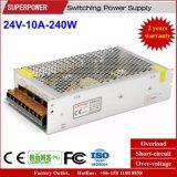 24V 10A 240W de Levering van de Macht van de Omschakeling voor Printer wordt gereserveerd die