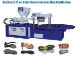 Drehmaschine für die Herstellung von zwei verschiedenen Dichte-Sohlen