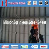 Feuille de plaque d'acier inoxydable de 304 miroirs