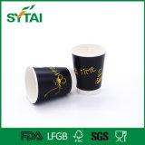 cuvette de papier estampée par logo de double café fait sur commande du mur 8oz