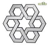 Polygon-schwarzer Spiegel-Rahmen