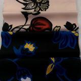 Le polyester a estampé le tissu pour les textiles à la maison de jupes de robe