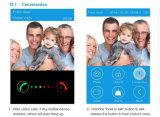 Drahtlose oder verdrahtete Anschluss-im Freienbell-Kamera mit WiFi Miniinnenbell und 8 PCS bidirektionale Wechselsprechanlage-sichtlichtürklingel IP-videotür-Telefon Bell Identifikation-Keyfobs WiFi