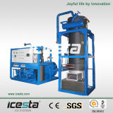 Gran capacidad de la máquina el tubo del hielo