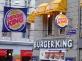 Één ZijPE Met een laag bedekt Document voor het Drinken van Burger King de Kop van de Koffie van het Ijs