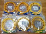 Câble de fibre optique recto de cordon de connexion de Sc-Rue 9/125um OS2 LSZH de fabrication de la Chine