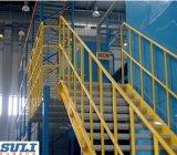 Crémaillère à plusieurs niveaux en acier d'étage de mezzanine pour la mémoire d'entrepôt